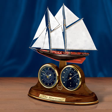 The Classic Bluenose Thermometer Desk Clock