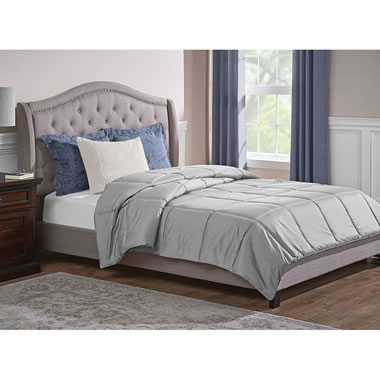 Temperature Regulating Wool Comforter King Gray