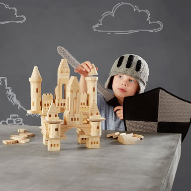 The Hammacher Schlemmer FAO Schwarz Castle Blocks