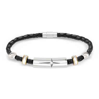 The Daughter And Granddaughter's Protection And Strength Leather Bracelet