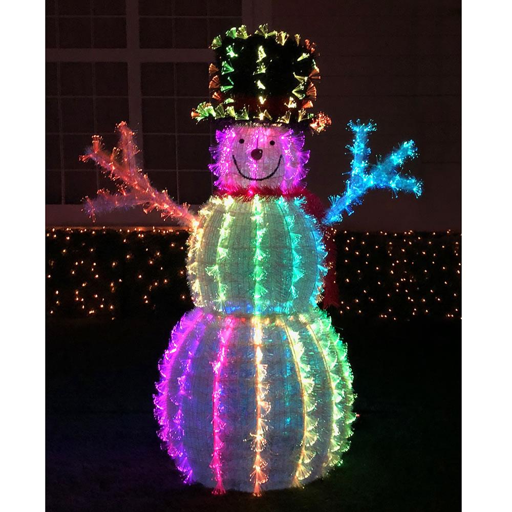the 4 snowman light sculpture front