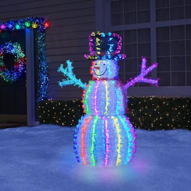 The 4' Snowman Light Sculpture