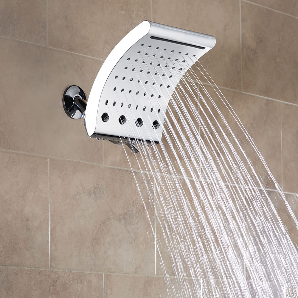 The Pressure Boosting Waterfall Showerhead 53 Jets
