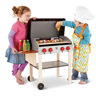 Wooden Shish Kabab Grill Set