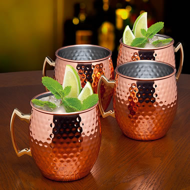 The Hand Hammered Copper Mug Set