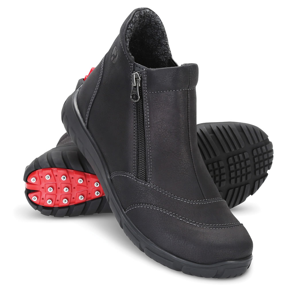 538bd577f19 The Instant Convertible Cleated Boots (Women s) - Hammacher Schlemmer