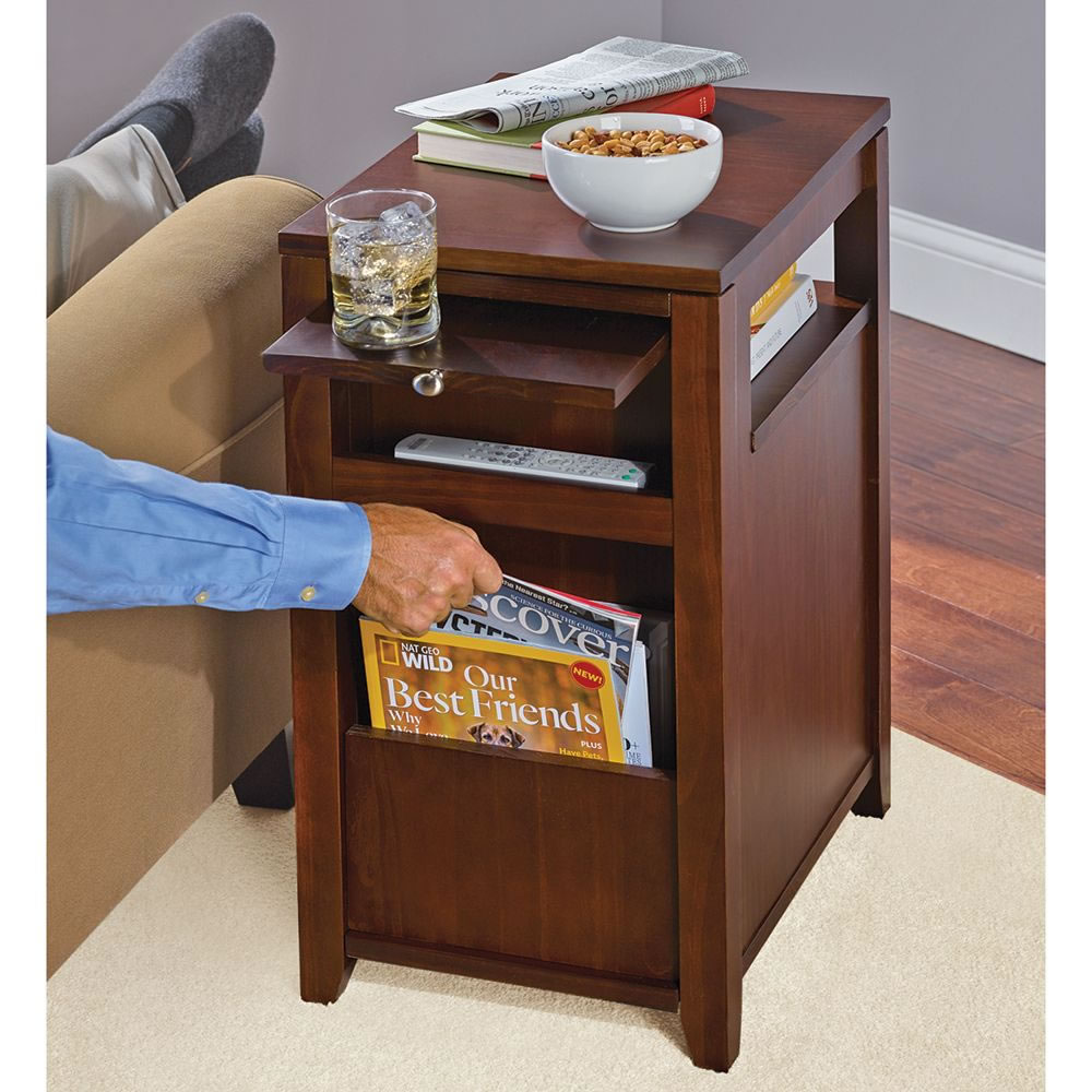 The Easy Access Recliner Side Table   Back With Magazines