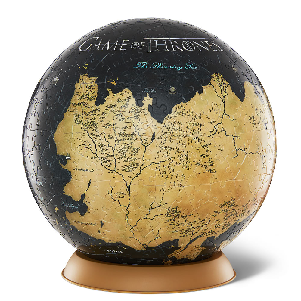The game of thrones 3d globe puzzle hammacher schlemmer the game of thrones 3d globe puzzle gumiabroncs Choice Image