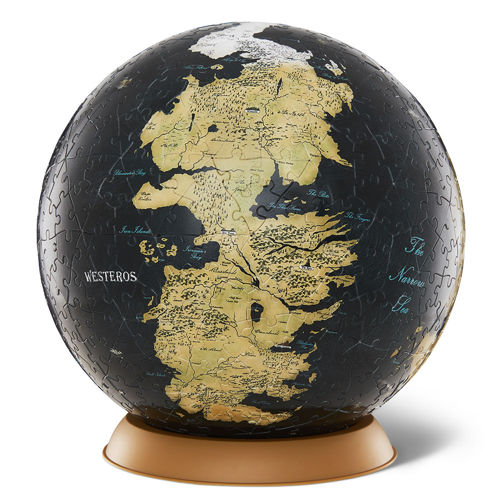 The game of thrones 3d globe puzzle hammacher schlemmer the game of thrones 3d globe puzzle gumiabroncs Images
