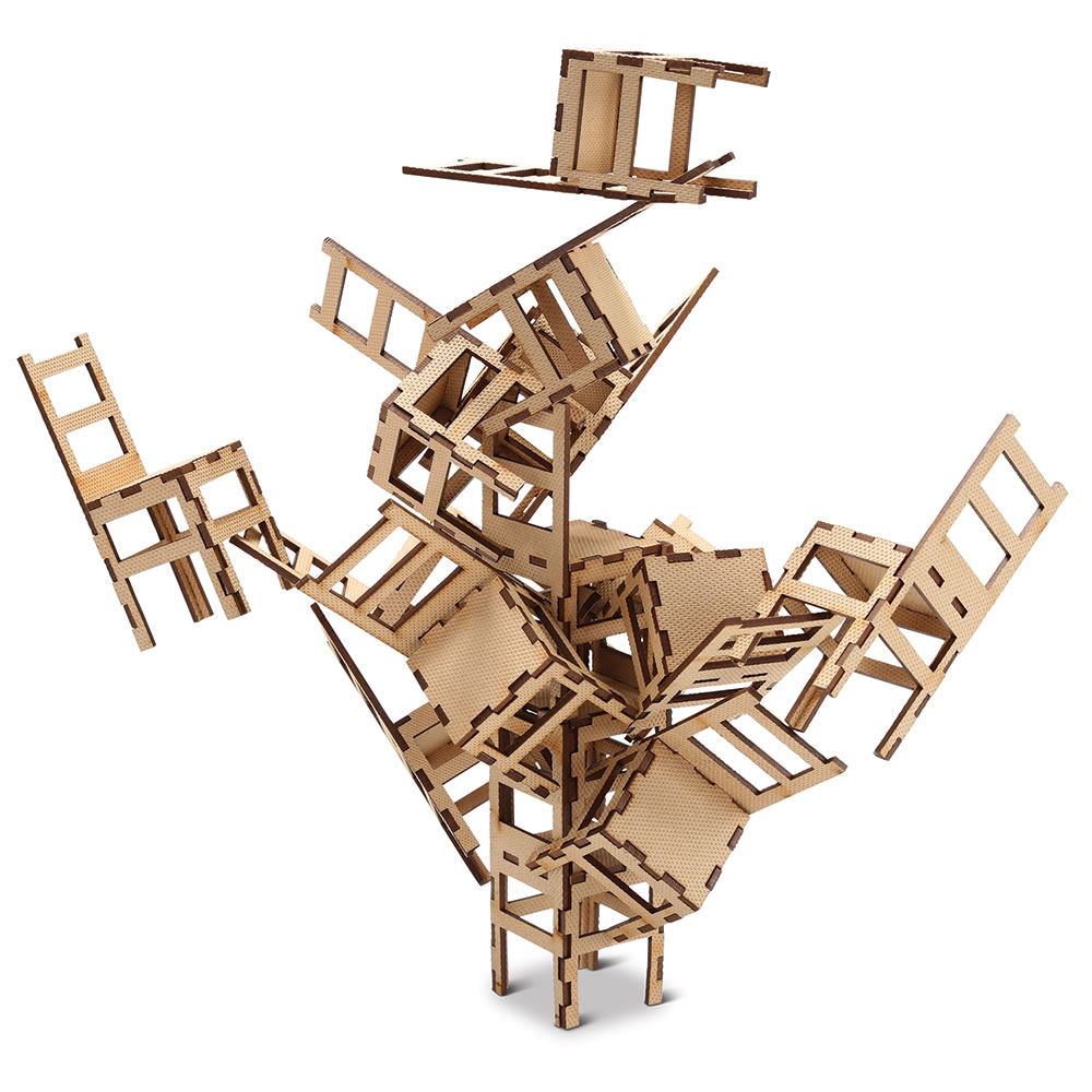 the moma stacking chair game hammacher schlemmer
