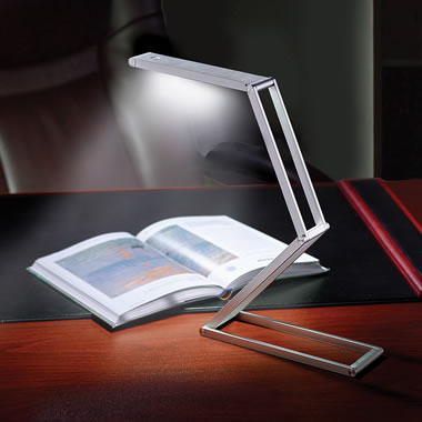 The Fold Flat Articulating LED Lamp
