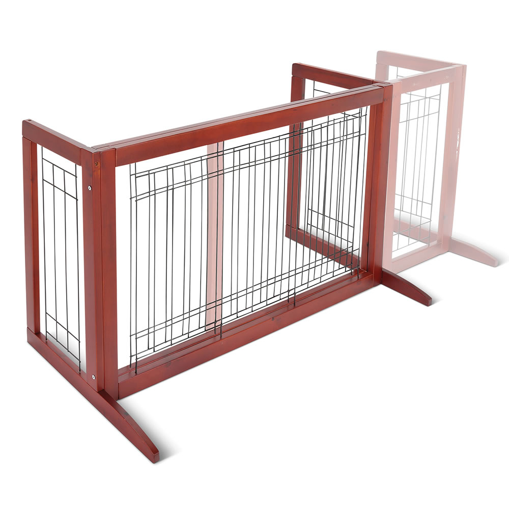 The Extra Wide Freestanding Expandable Pet Gate Hammacher