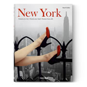 """This is the book that takes it reader on a photographic journey of one of the world's most iconic cities. It spans nearly 600 pages, features the work of over 150 photographers, and is broken into five sections that cover the city's history and show how New York influenced American culture over the decades. Starting in 1853 with a grainy picture of residences in pre-Civil War upper Manhattan that resembles a small village, the book contains classic images such the Brooklyn Bridge from 1890, Mulberry Street in 1900, and the """"kissing couple"""" on V-J Day in 1945. Others include James Dean in Times Square in 1955, an on-location production shot of West Side Story in 1961, and a crowd's reaction to John Lennon'"""