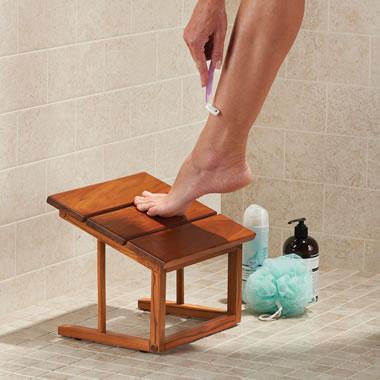 The Teak Angled Shower Pedestal