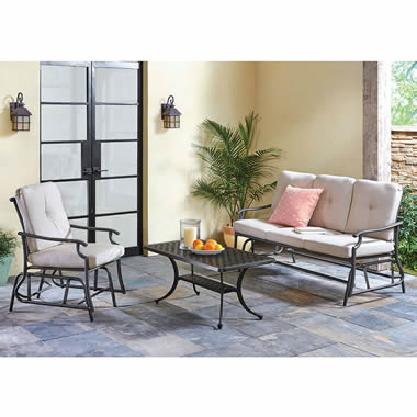 The All Weather Sofa Glider - Shown on patio