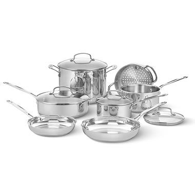Complete Cool To The Touch Stainless Steel Cooking Set
