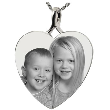 The Etched Image Sterling Silver Photo Pendant