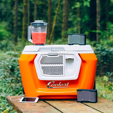 Perfect Tailgating Cooler Orange