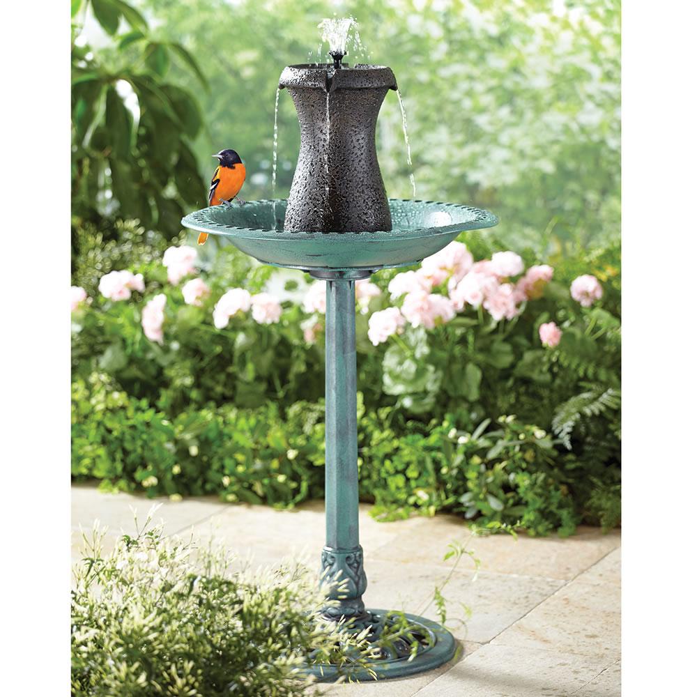 The Cordless Birdbath Fountain