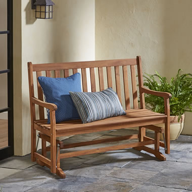 The Classic Acacia Glider Bench
