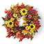 The Cordless Prelit Harvest Wreath