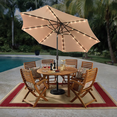 The Solar Powered Illuminating Umbrella