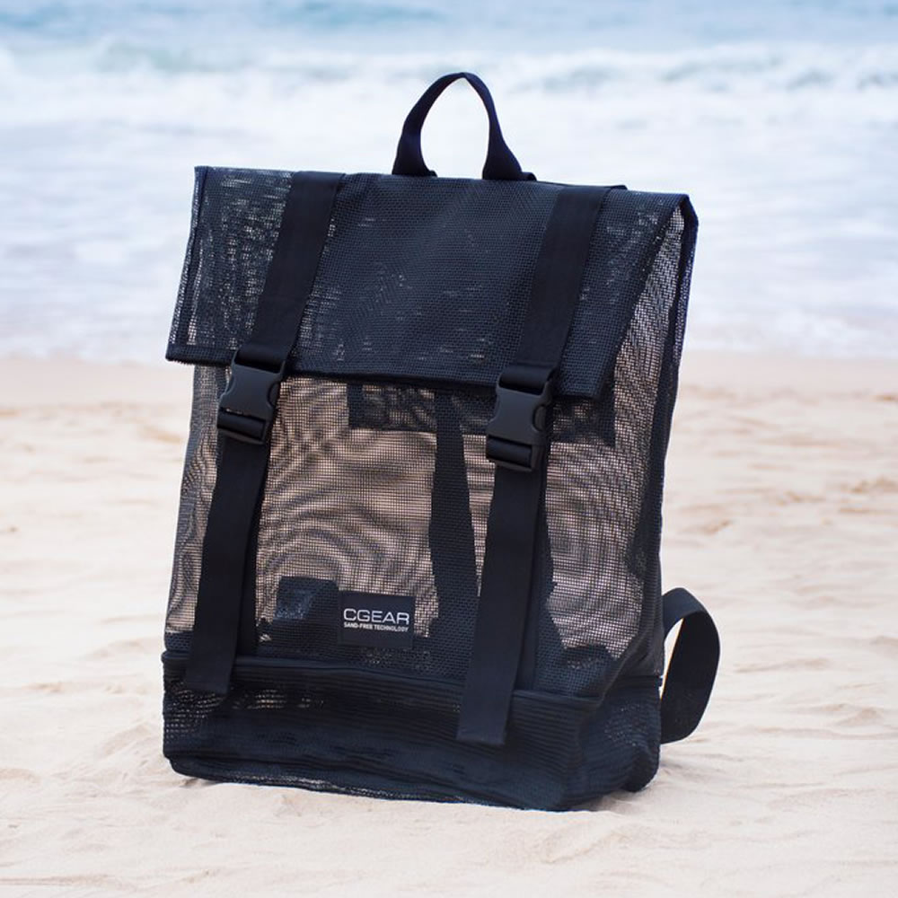 The Sandless Beach Backpack Hammacher Schlemmer