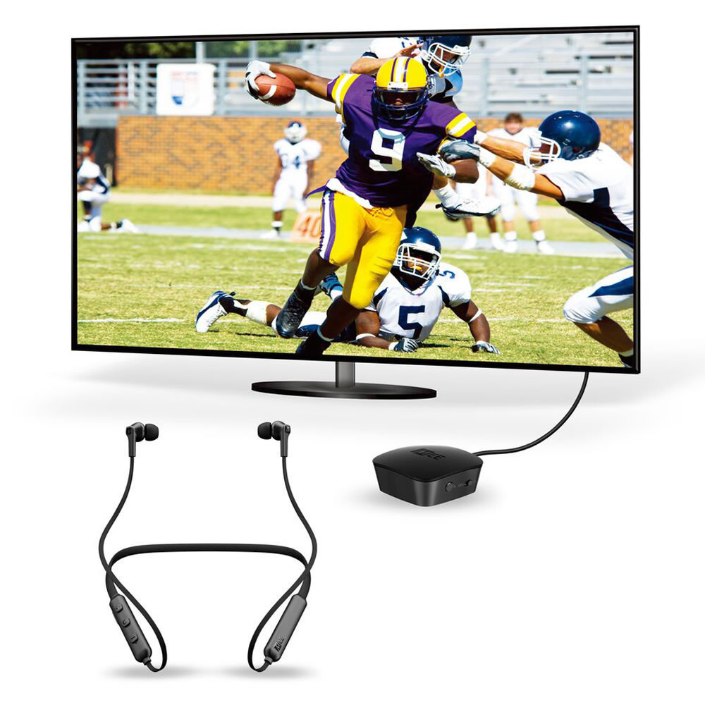 5c4ed28facf The Rechargeable Wireless TV Ear Buds - Hammacher Schlemmer