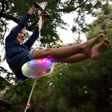 The Day And Night Backyard Zipline