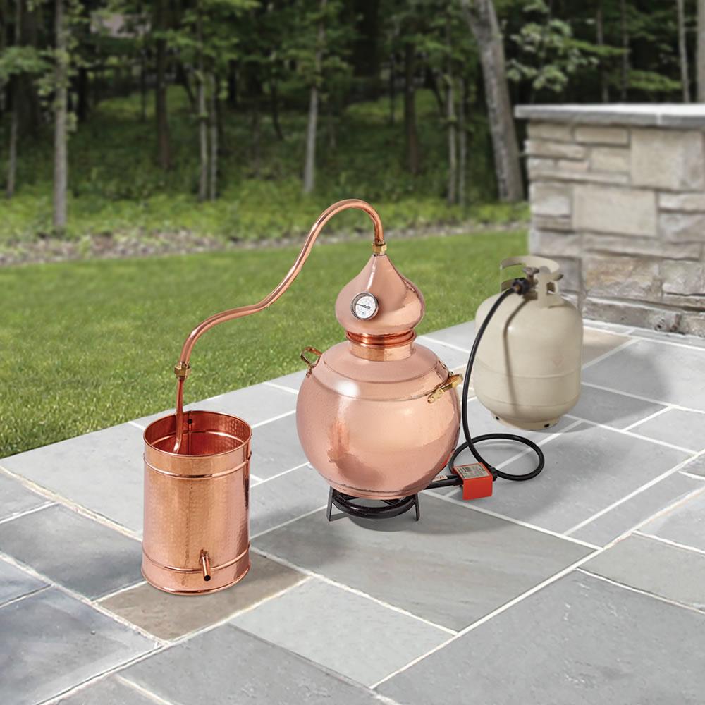 The Handcrafted European Copper Distiller - Hammacher Schlemmer