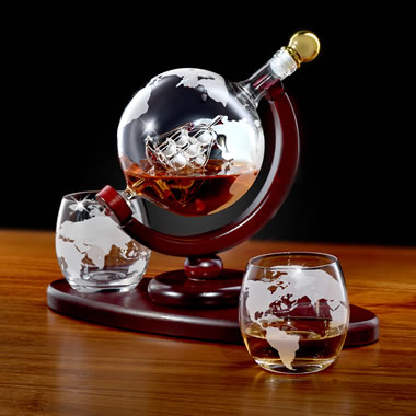 The Ship In A Globe Decanter Set