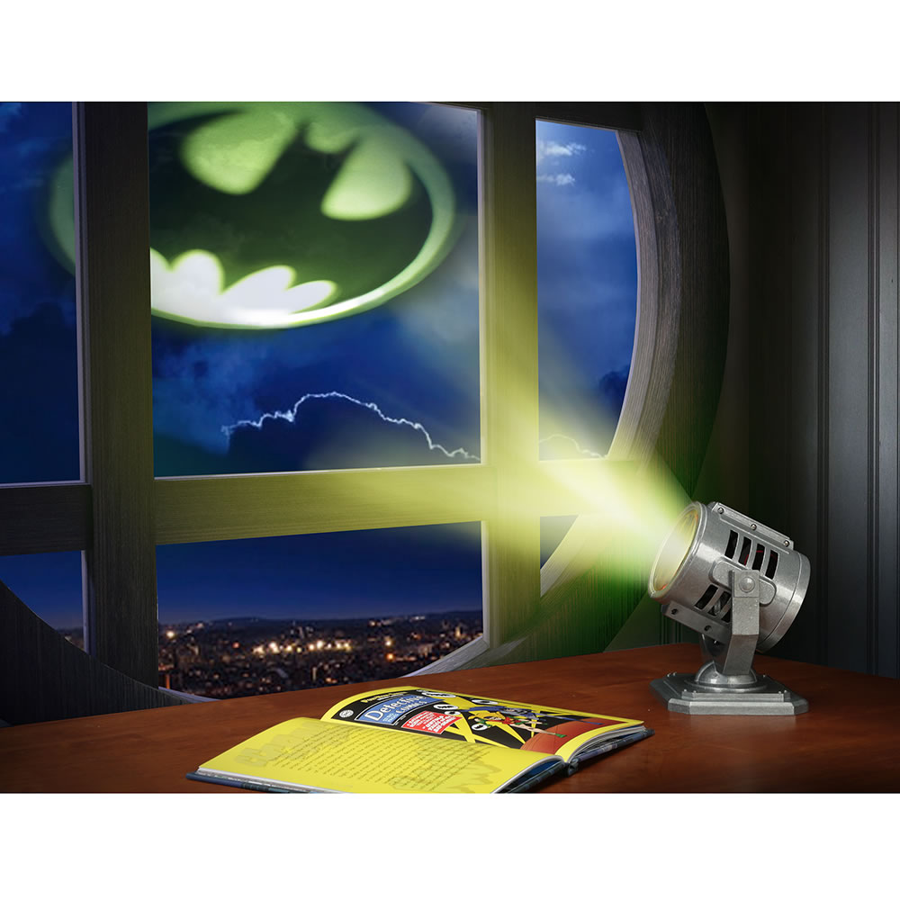 Batlight Shines On Line For Dark Knight >> Batman Desktop Bat Signal Hammacher Schlemmer