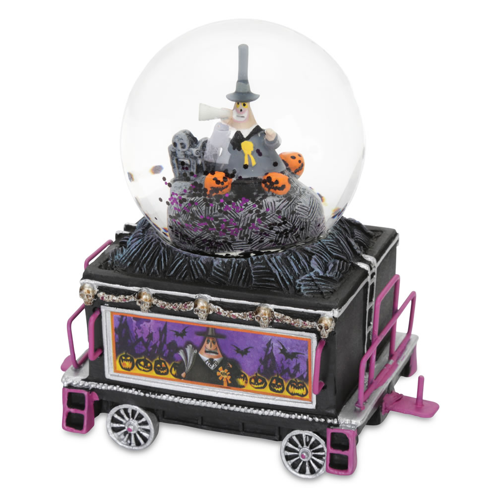 The Nightmare Before Christmas Glitterglobe Train - Hammacher Schlemmer