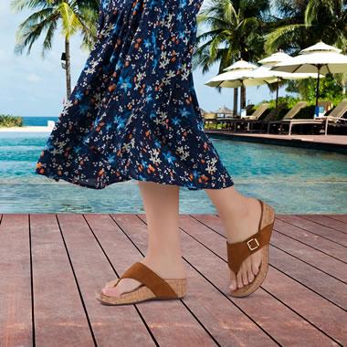 The Plantar Fasciitis Platform Sandals
