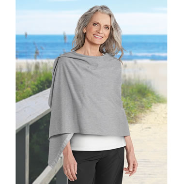 Medically Endorsed Convertible Sun Scarf Gray