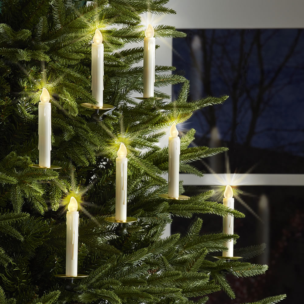 The Remote Control Christmas Tree Candles - Hammacher ...