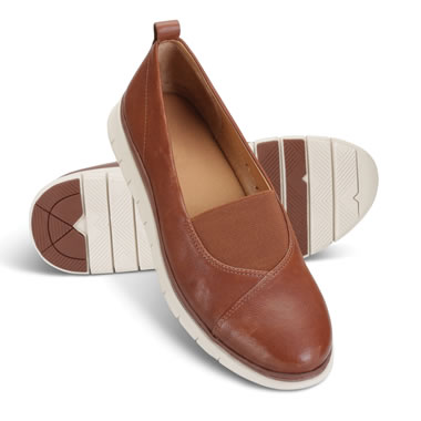 The Lady's Plantar Fasciitis Leather Flats