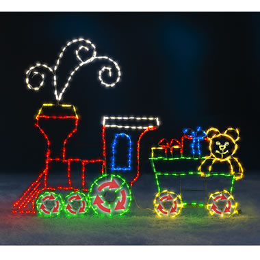 5' Animated Holiday Locomotive