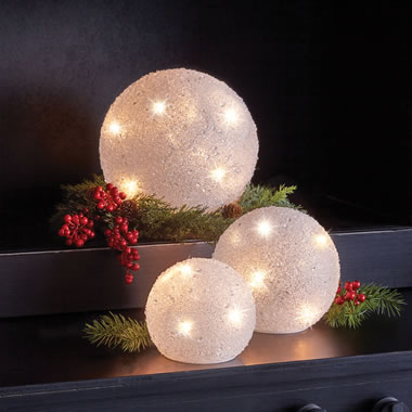The Decorative Lighted Snowballs