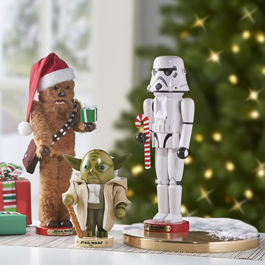 The Steinbach Star Wars Nutcrackers on Table
