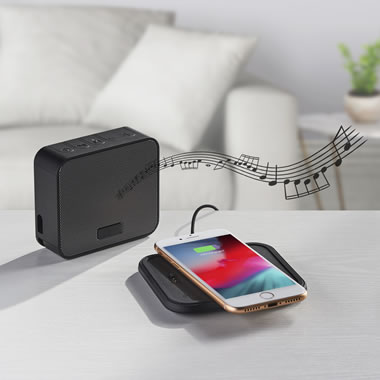 The Wireless Speaker And Phone Charging Pad