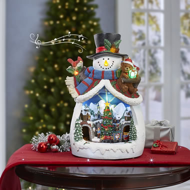 17 Inch Illuminated Musical Snowman