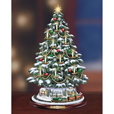 The Thomas Kinkade Village Candlelit Tree