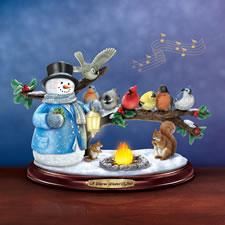 The Thomas Kinkade Winter Glow Snowman
