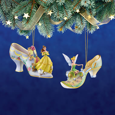 The Disney Princess Slipper Ornaments (Belle and Tinker Bell)