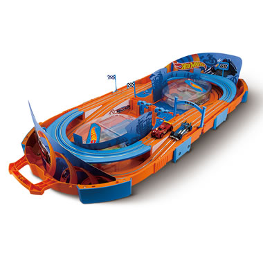 The Hot Wheels Foldaway Instant Slot Car Raceway