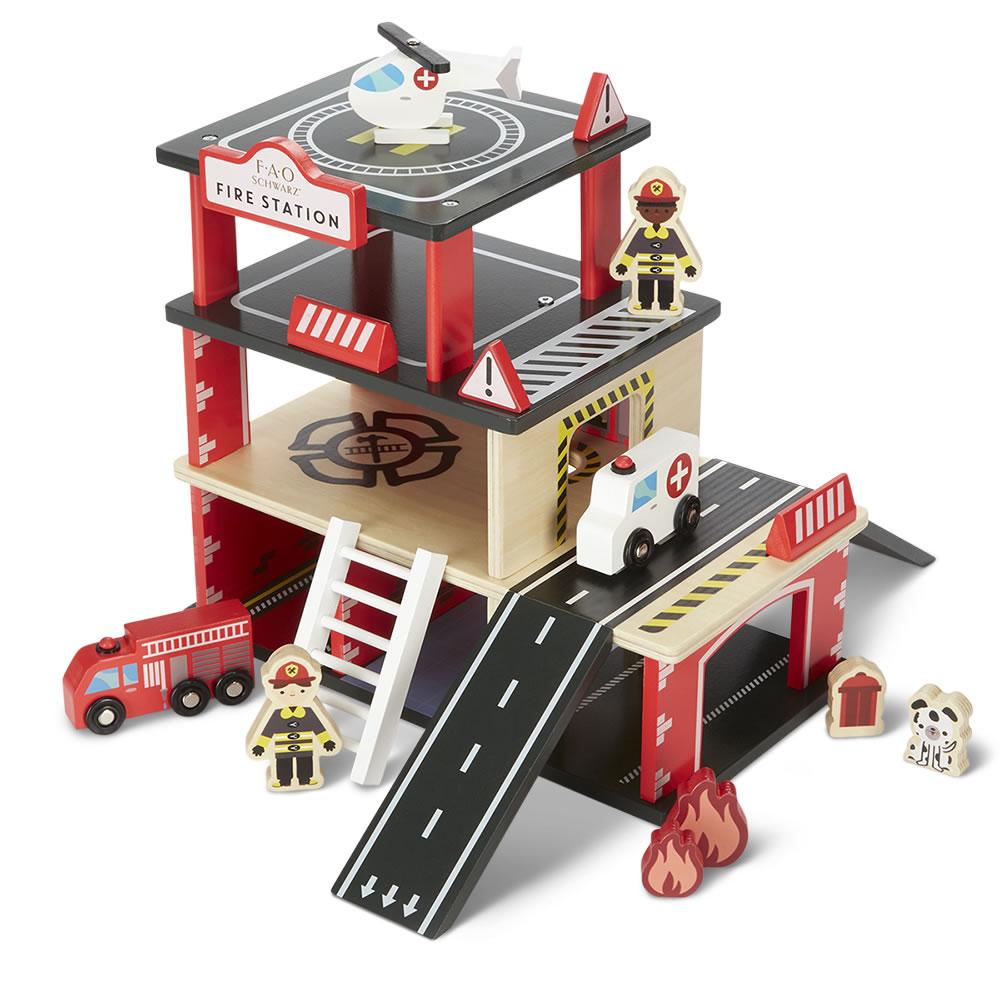 The Fao Schwarz Wooden Fire Station