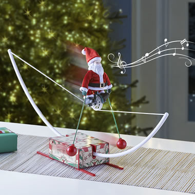 Musical High Wire Cycling Santa