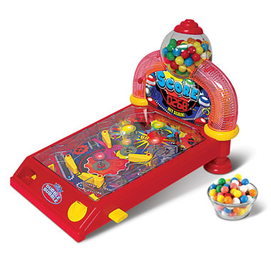 Gumball Awarding Pinball Machine