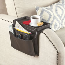 The Leather Arm Rest End Table